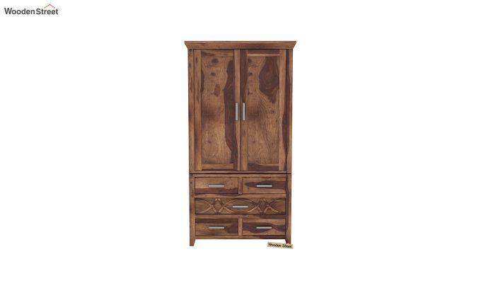 Allan 2 Door Multi-Utility Wardrobe (Teak Finish)-3