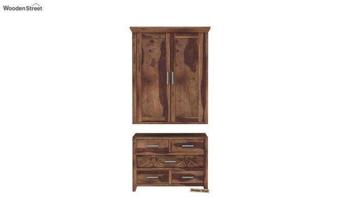 Allan 2 Door Multi-Utility Wardrobe (Teak Finish)-6