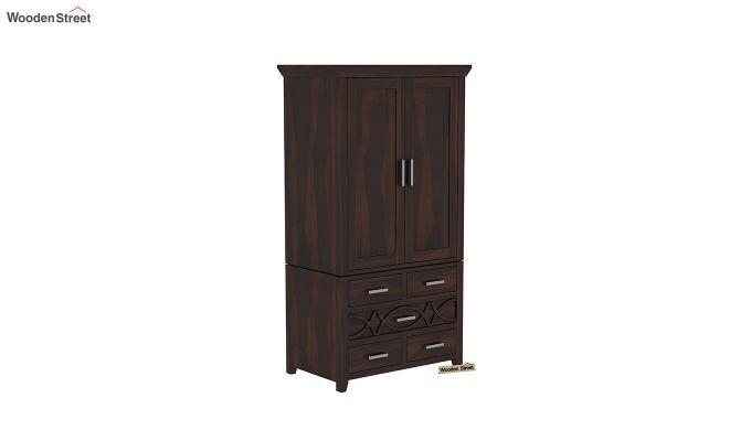 Allan 2 Door Multi-Utility Wardrobe (Walnut Finish)-2
