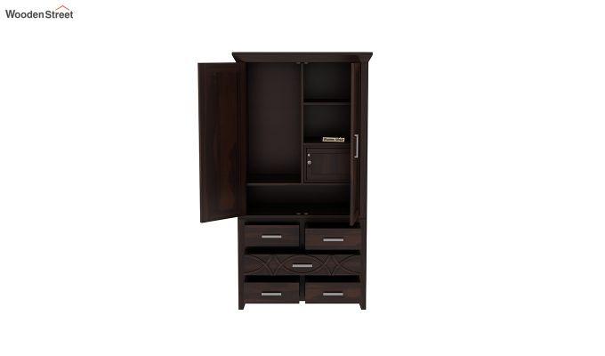Allan 2 Door Multi-Utility Wardrobe (Walnut Finish)-5