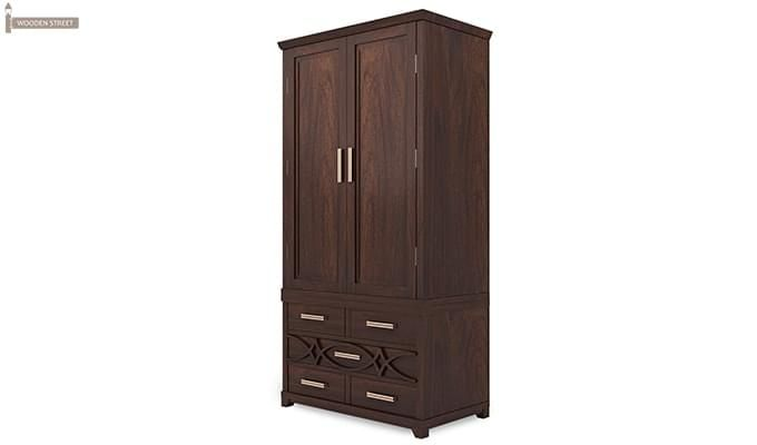 Allan Multi Utility Wardrobes (Walnut Finish)-4