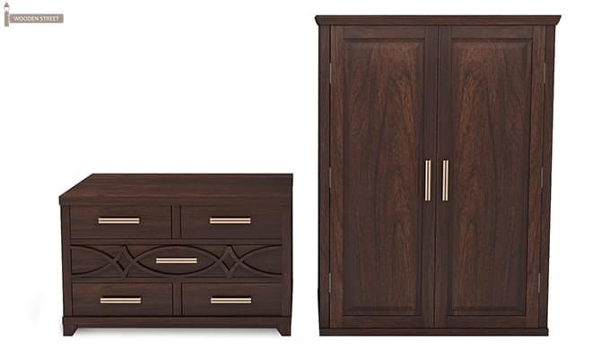 Allan Multi Utility Wardrobes (Walnut Finish)-6