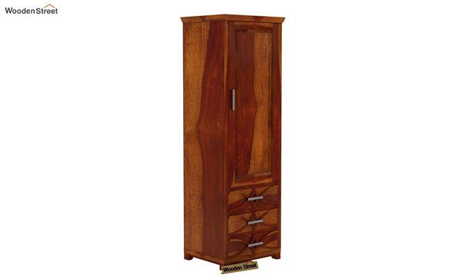 Allan 1 Door Multi-Utility Wardrobe (Honey Finish)-1