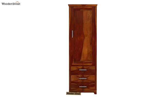 Allan 1 Door Multi-Utility Wardrobe (Honey Finish)-2