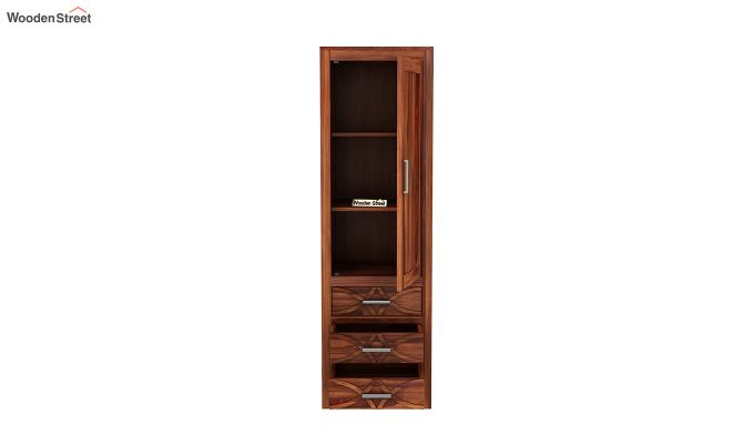 Allan 1 Door Multi-Utility Wardrobe (Honey Finish)-5