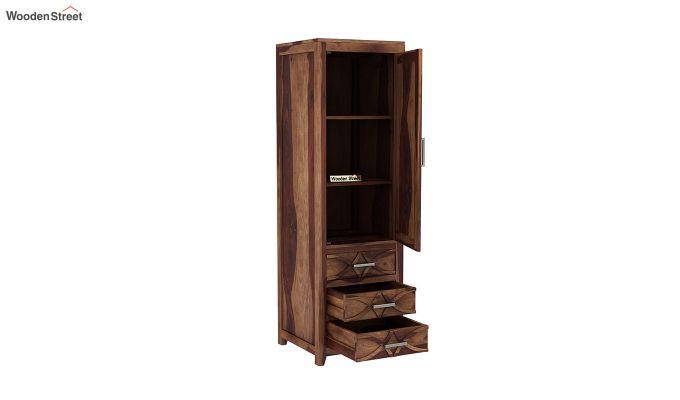 Allan 1 Door Multi-Utility Wardrobe (Teak Finish)-4