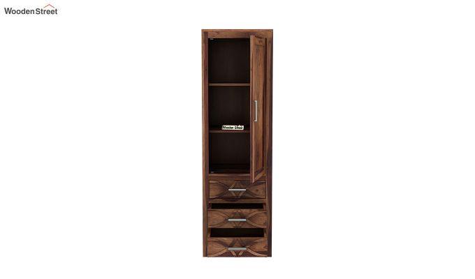 Allan 1 Door Multi-Utility Wardrobe (Teak Finish)-5