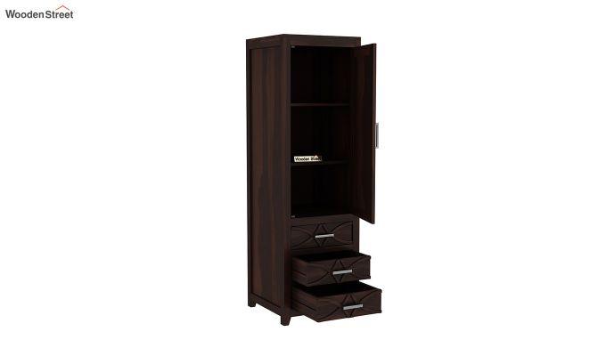 Allan 1 Door Multi-Utility Wardrobe (Walnut Finish)-4
