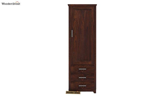 Allan 1 Door Multi-Utility Wardrobe (Walnut Finish)-3