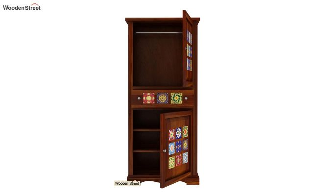 Boho Multi Utility Wardrobe (Honey Finish)-5