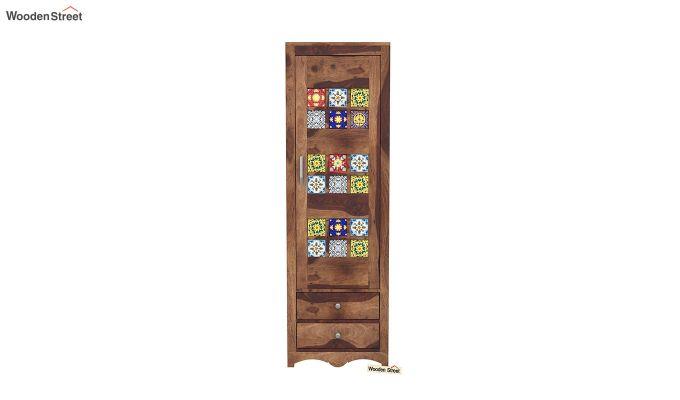 Boho 1 Door Multi Utility Wardrobe (Teak Finish)-3