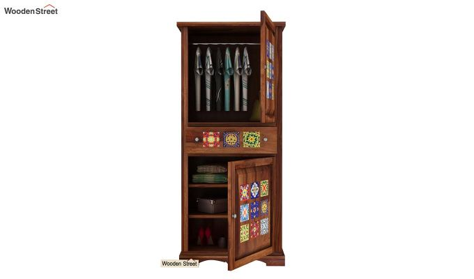 Boho Multi Utility Wardrobe (Teak Finish)-3