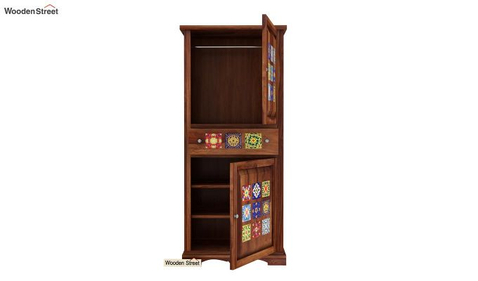 Boho Multi Utility Wardrobe (Teak Finish)-4