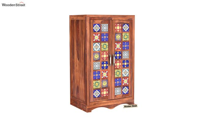 Boho Small Size Wardrobe (Honey Finish)-3