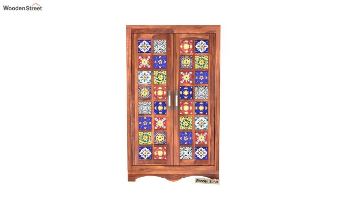 Boho Small Size Wardrobe (Honey Finish)-4