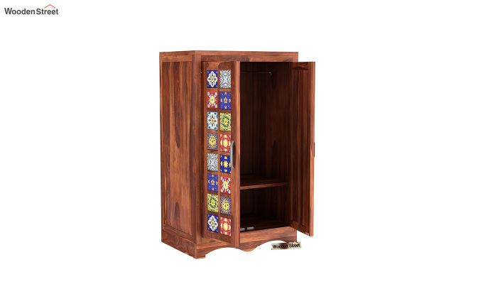 Boho Small Size Wardrobe (Honey Finish)-5