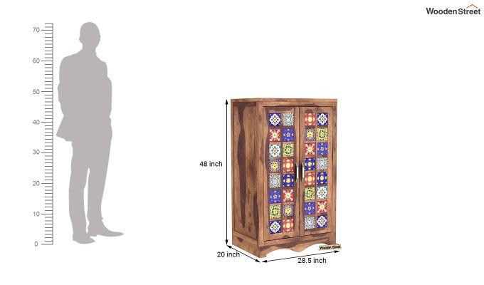 Boho Small Size Wardrobe (Teak Finish)-7