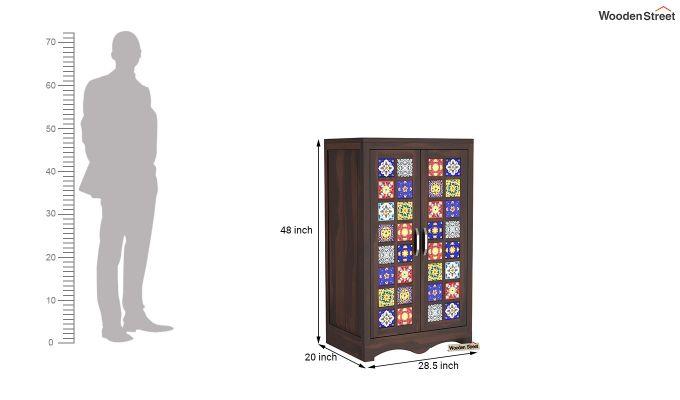 Boho Small Size Wardrobe (Walnut Finish)-7