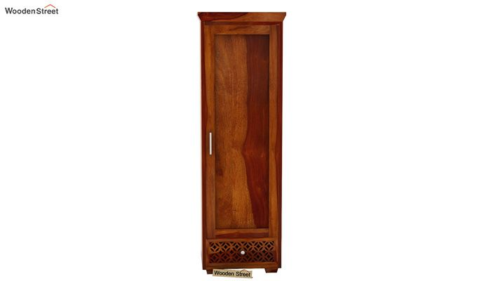 Cambrey 1 Door Multi Utility Wardrobe (Honey Finish)-3