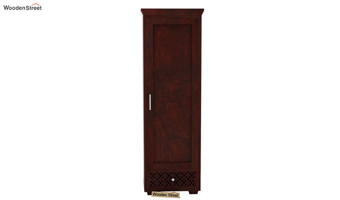 Cambrey 1 Door Multi Utility Wardrobe (Mahogany Finish)-3