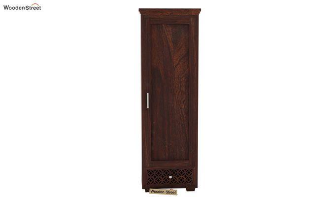 Cambrey 1 Door Multi Utility Wardrobe (Walnut Finish)-3