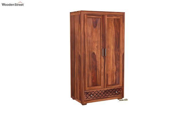 Cambrey 2 Door Multi Utility Wardrobe (Honey Finish)-2