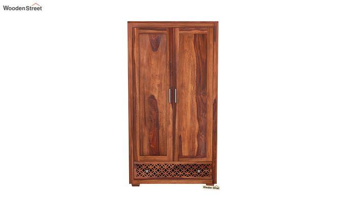Cambrey 2 Door Multi Utility Wardrobe (Honey Finish)-3
