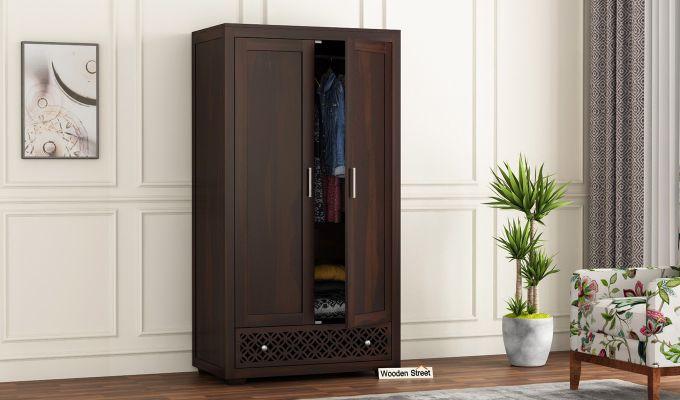 Cambrey 2 Door Multi Utility Wardrobe (Walnut Finish)-1
