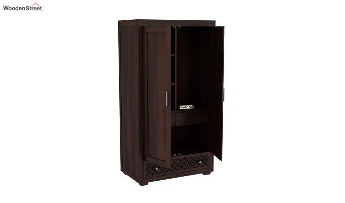 Cambrey 2 Door Multi Utility Wardrobe (Walnut Finish)-4