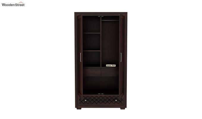 Cambrey 2 Door Multi Utility Wardrobe (Walnut Finish)-5
