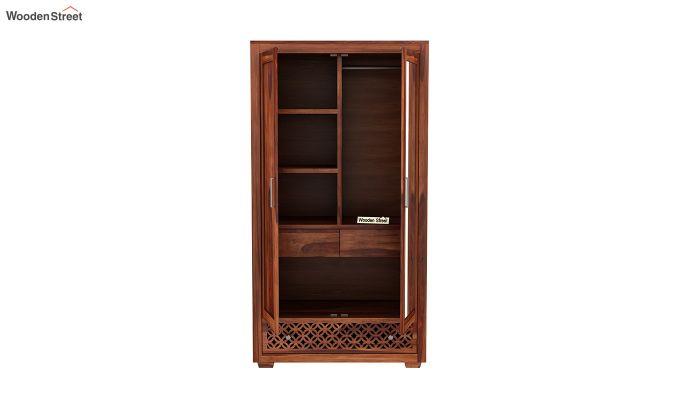 Cambrey 2 Door Wardrobe with Mirror (Honey Finish)-5