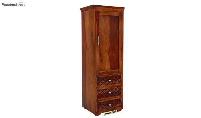 Cambrey 1 Door With 3 Drawers Wardrobe (Honey Finish)-2