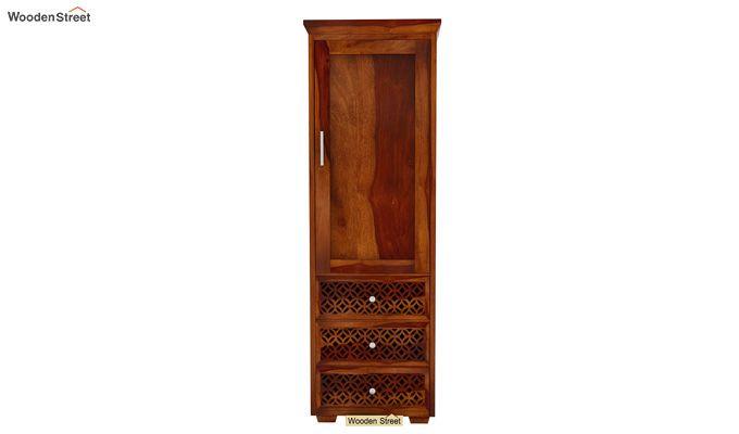 Cambrey 1 Door With 3 Drawers Wardrobe (Honey Finish)-3