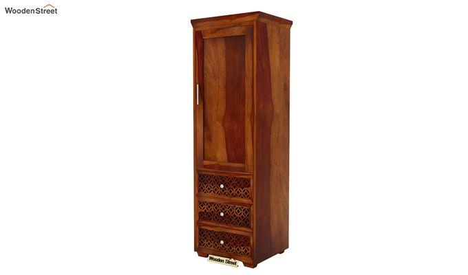 Cambrey 1 Door With 3 Drawers Wardrobe (Honey Finish)-4