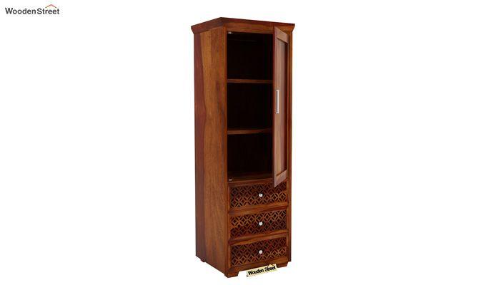 Cambrey 1 Door With 3 Drawers Wardrobe (Honey Finish)-5