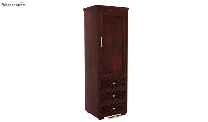 Cambrey 1 Door With 3 Drawers Wardrobe (Mahogany Finish)-1