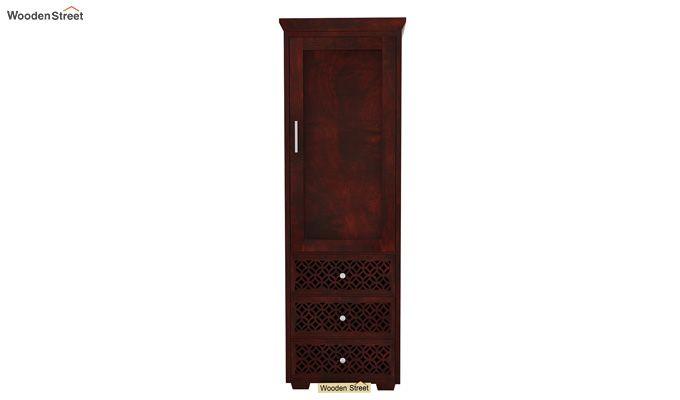 Cambrey 1 Door With 3 Drawers Wardrobe (Mahogany Finish)-2