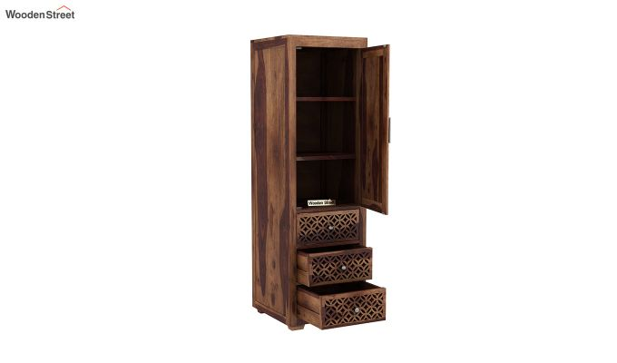Cambrey 1 Door With 3 Drawers Wardrobe (Teak Finish)-4