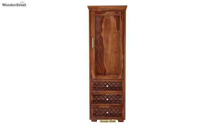 Cambrey 1 Door With 3 Drawers Wardrobe (Teak Finish)-2