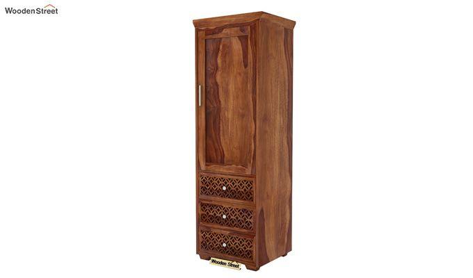 Cambrey 1 Door With 3 Drawers Wardrobe (Teak Finish)-3