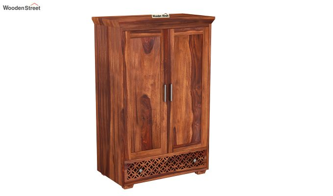 Cambrey Medium Size Wardrobe (Honey Finish)-2