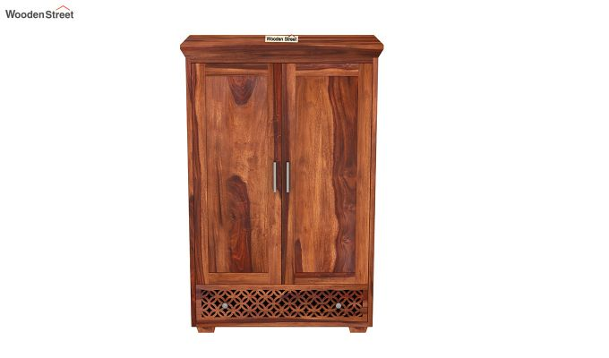 Cambrey Medium Size Wardrobe (Honey Finish)-3