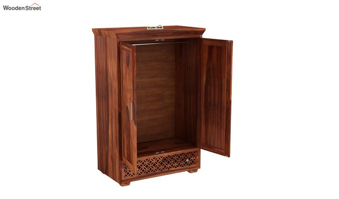 Cambrey Medium Size Wardrobe (Honey Finish)-4