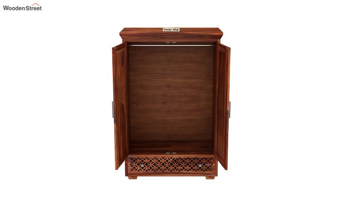 Cambrey Medium Size Wardrobe (Honey Finish)-5