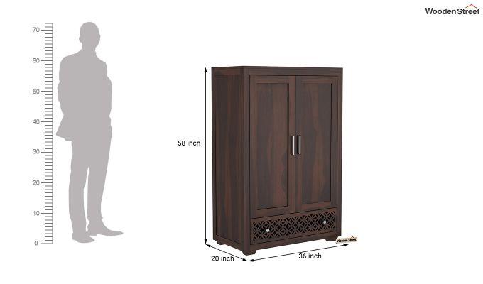 Cambrey Medium Size Wardrobe (Walnut Finish)-6