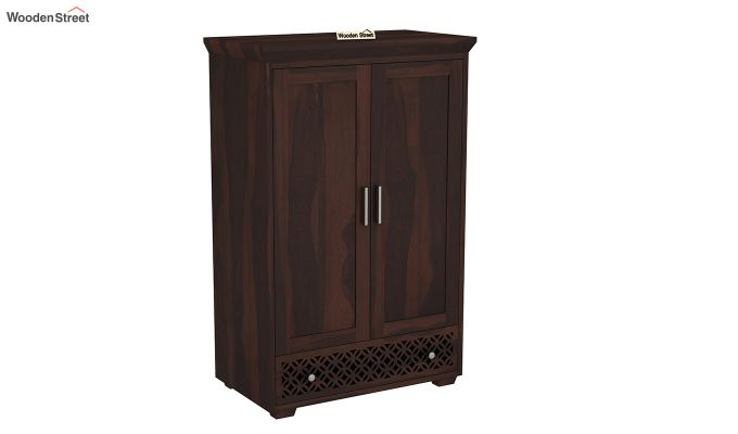Cambrey Medium Size Wardrobe (Walnut Finish)-2