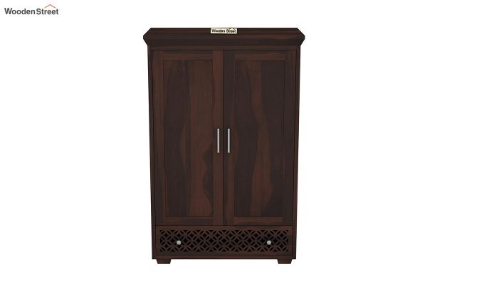Cambrey Medium Size Wardrobe (Walnut Finish)-3
