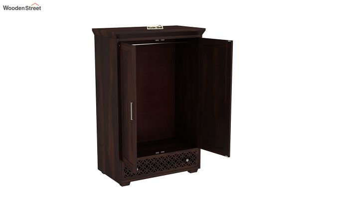 Cambrey Medium Size Wardrobe (Walnut Finish)-4