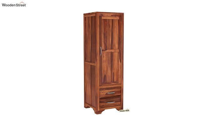 Carlton 1 Door Multi-Utility Wardrobe (Honey Finish)-2