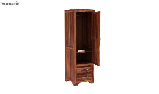 Carlton 1 Door Multi-Utility Wardrobe (Honey Finish)-4